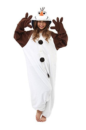 Olaf Kigurumi (Adults) (Olaf Halloween Costume Adults)