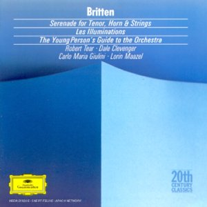 Benjamin Britten, Carlo Maria Giulini, Lorin Maazel, Chicago Symphony,  Philharmonia Orchestra, Orchestra National Paris, Robert Tear - Britten:  Serenade; Les Illuminations; Young Person's Guide to the Orchestra -  Amazon.com Music
