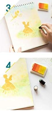 Welecom 10 Pcs Art Finger Sponge Daubers Drawing Sponge Finger Painting Brush Ink Pad Stamping Chalk Sponge Set DIY Card Making Crafts School Stenciling Children Handmade Projects Reborn Art Tools