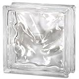 Quality Glass Block 8 x 8 x 3 Wavy Glass Block