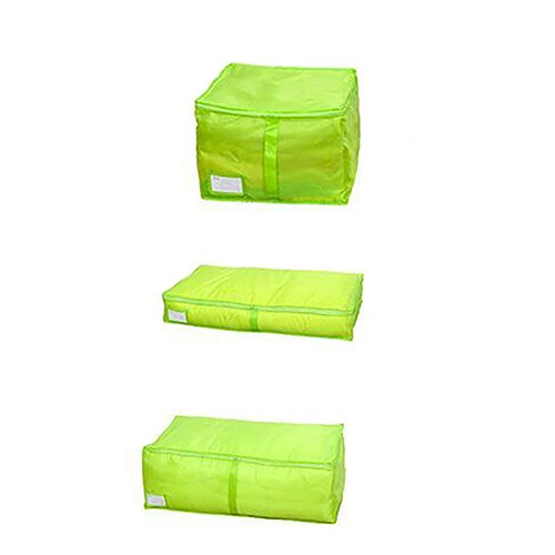 yanbirdfx Clothes Bedclothing Duvet Pillows Zipper Storage Bag Box Hand Handles Luggage Rose-m by yanbirdfx (Image #4)