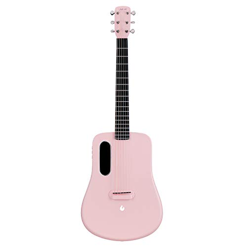 LAVA ME 2 Acoustic Guitar, 36-inch carbon fiber guitar, Beginner Guitar, Travel Guitar, Bundle with ideal Bag and ideal Picks (Freeboost-Pink)