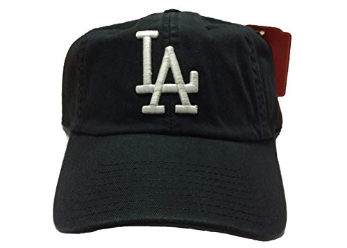 - American Needle MLB Ballpark Slouch Contrast Logo Cotton Twill Adjustable Cap (Black, Los Angeles Dodgers, One Size Fits Most)