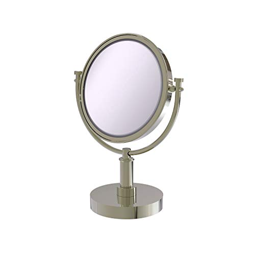 Allied Brass DM-4/3X-PNI 8-Inch Table Mirror with 3x Magnification, 15-Inch, Polished Nickel