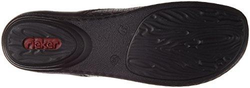 Rieker 53945, Zapatos de Cordones Derby para Mujer Negro (Schwarz / 00)