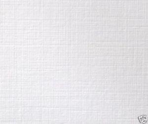 Zanders White A4 Zeta Linen Textured Paper 100gsm X 50
