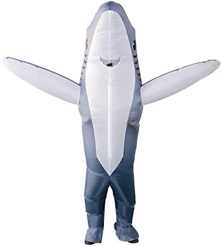 SIREN SUE Inflatable Shark Costumes for a Halloween and Christmas Show Grey Large