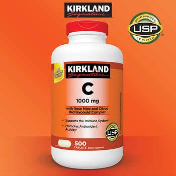 Kirkland Signature Vitamin C w/ Rose Hips 500 Tablets