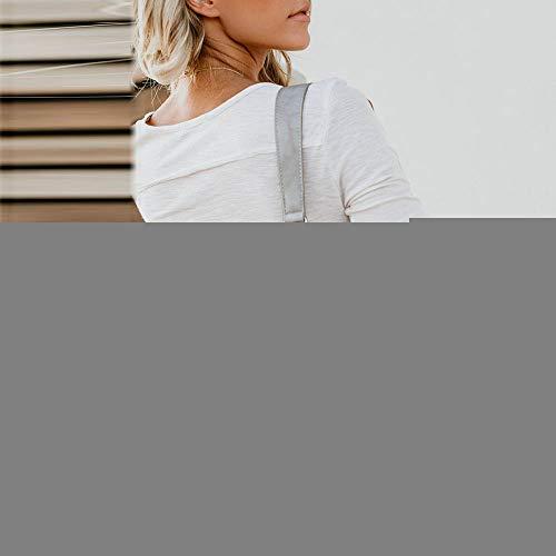Fille Bureau T Blanc Couleur Automne Longue Chic Manches Slim Sexy et Vetements de Sweat Bloc OVERMAL Dcontracte t Shirt 1 Chemise Shirt Femmes Unie Blouse Fluide Tops Haut Mode CxfvnwSaq