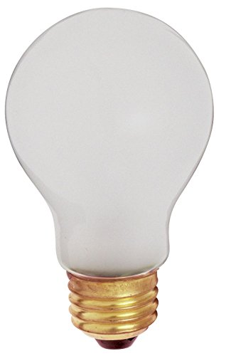 - Satco 60A/RS/TF/2PK Incandescent Shatter Proof, 60W E26 A19, Frosted Bulb [Pack of 12]