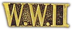 - World War II Script Lapel Hat Pin