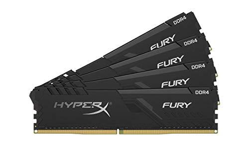HyperX Fury 64GB 2666MHz DDR4 CL16 DIMM (Kit of 4) Black XMP Desktop Memory HX426C16FB3K4/64