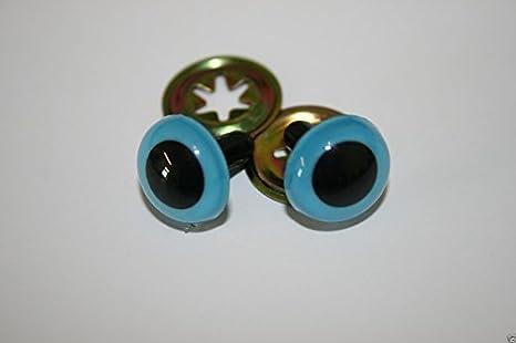Crystal Plastic Safety Teddy Bear Eyes Inc Washers Soft Toy Making Amber 18mm