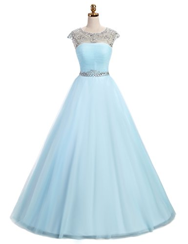 light blue ball gown - 3
