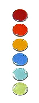 Available in 12 Transparent and 6 Solid Colors in A Zip Lock Bag 3//4 Radius Edge 150pcs Plastic Bingo Chips