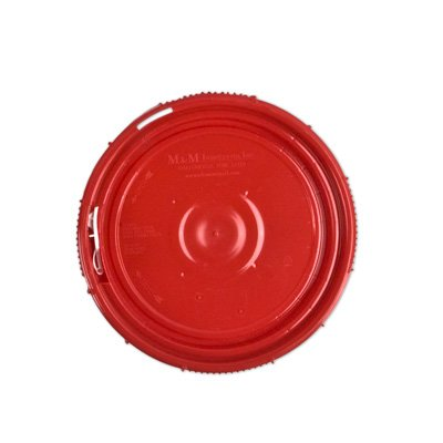 1.25 Gallon Life Latch New Generation High Density Plastic Tamper Evident Shipping Container with Red Lid (8 Containers)