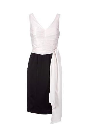 d4f7f06d4eee28 APART Damen Kleid/Knielang Etuikleid in schwarz-weiss, Gr. 32, Schwarz