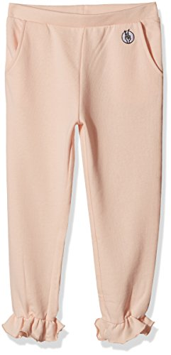 Kid Nation Girls' French Terry Ruffled-Hem Pant X-Large Seashell Pink
