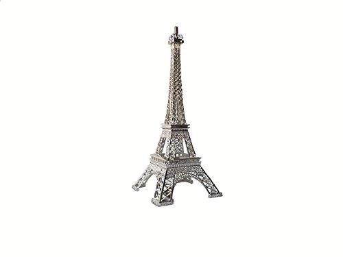 Wgg 9.8 Inch Metal Eiffel Tower for Cake Topper Craft Mold Desk Decor Home Decoration (Silver) (Tower Desk Eiffel)