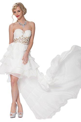 SEXYHER Gorgeous Encuadre de cuerpo entero sin tirantes de las damas de honor vestido de noche formal - EDK32800 Blanquecino
