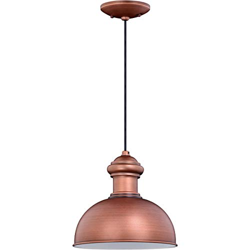 Outdoor Pendant 1 Light Fixtures with Brushed Copper Finish Steel Material Medium 10