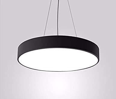 Lighsch pendant light chandelier office circular restaurant lighsch pendant light chandelier office circular restaurant shopping center black 50cm 48w white light mozeypictures Choice Image