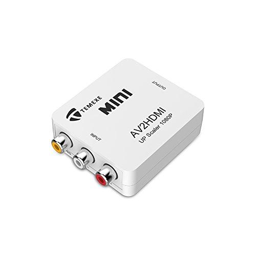 TEMEXE RCA Composite AV CVBS to HDMI Audio Video Mini