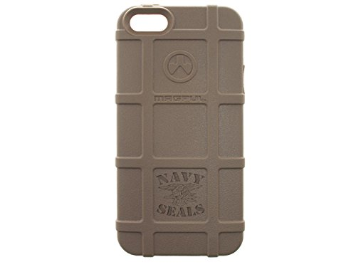 for Iphone SE & 5/5s Magpul MAG452 Field Case Flat Dark Earth NDZ Performance Custom Engraved Navy Seals Trident Text (Seals Iphone 5s Case compare prices)
