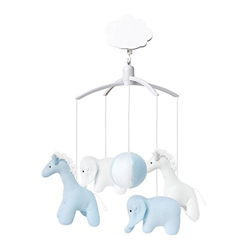 Trousselier - Mobile Musical - Girafes & Elephants - Bleu Ciel & Blanc