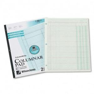 (NEW - Accounting Pad, Two Eight-Unit Columns, 8-1/2 x 11, 50-Sheet Pad - G7202A)