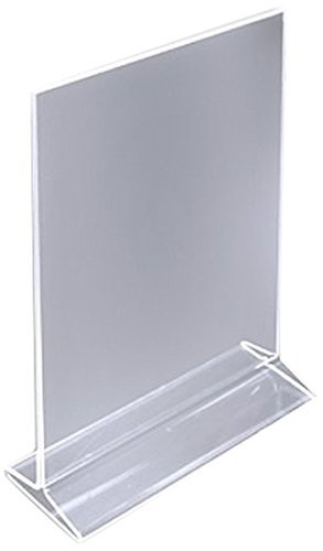 """(Pack of 12) 8½"""" x 11"""" Acrylic Sign Holder / Clear Table Card Display / Plastic Upright Menu Ad Frame"""