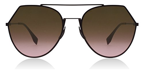 Fendi FF0194/S 0T7 Plum FF0194/S Round Sunglasses Lens Category 2 Lens Mirrored