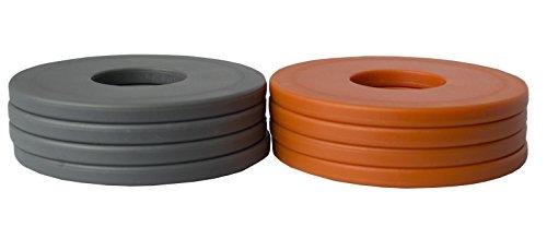 Washer Yard Toss Replacement Pitching Set (Orange/Gray, Set of 8)