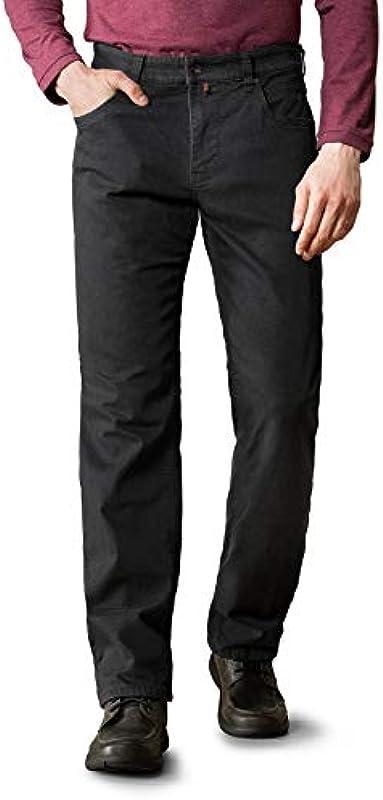 Walbusch Męskie dżinsy termiczne, krÓj normalny, jednokolorowe: Walbusch: Odzież