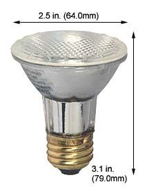 Incandescent Light Bulbs 50PAR20QNFL/30/SS 130V (Case of 12) ()