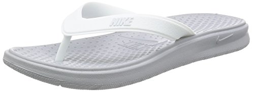 Nike Women's Solay Athletic Thong Sandal 882699 (6, 003 Wolf Grey/Pure (Athletic Thong Sandals)