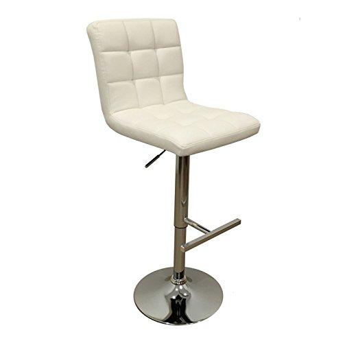 ACTUAL DIFFUSION 788BL Set de 2 Chaises de Bar Réglables Bois 48 x 41 -5 x 91 -5 cm