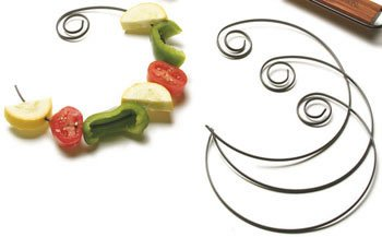 Charcoal Companion Circle Kabob Skewers, Set of 4