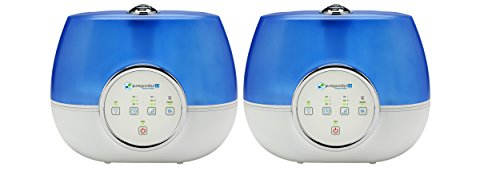 PureGuardian 13L Output Per Day Ultrasonic Warm and Cool Mist Humidifiers, Large Room, Home, Office, Bedroom, Silver Clean Treated Tank, 3 Speed, Timer, Auto Shutoff, Pure Guardian Humidifier H48102PK by Guardian Technologies (Image #1)