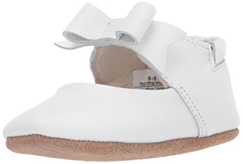 Robeez Girls' Ankle Strap Mary Jane First Kicks Crib Shoe Sofia White 12-18 Months