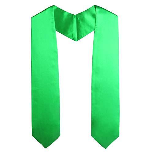 (OSBO GradSeason Unisex Adult Plain Graduation Stole for Academic Commencements, 60'' long (Emerald))