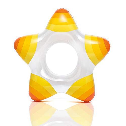 Jacson 5 Star Swimming Ring Transparent Children Inflatable Swimming Ring 3-6 Years Old Children Lifebuoy,Yellow