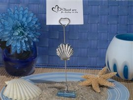Cassiani Silver Seashell Place Card Holder