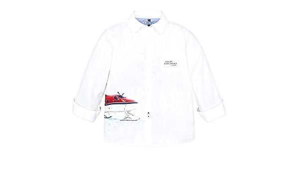 Mayoral Camisa de niño blanca con dibujo avión 4127 blanco 92 ...