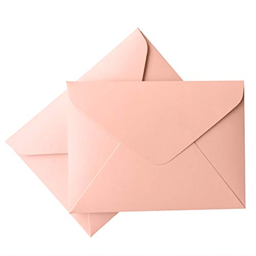 (Picky Bride A7 Invitation Envelopes 5x7 (20pcs) for Wedding Invitations Pink Envelopes Made of 250GSM Metallic Paper, Pack of 20)
