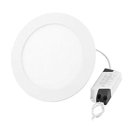 eDealMax blanca 12W Ronda Oficina regulable LED empotrada en el techo Panel de luz de la