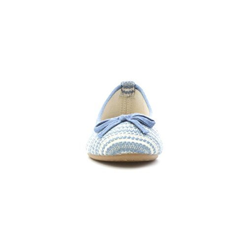 Lilley Womens Blue and Silver Bow Ballerina Blue XgsUJDJO