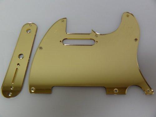 Gold Mirror Pickguard Set Fits Fender Telecaster Tele
