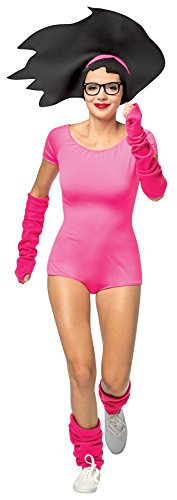 UHC Women's Bob's Burgers Buttloose Tina Outfit w/ Wig Halloween Fancy Costume, OS (Up to 12)