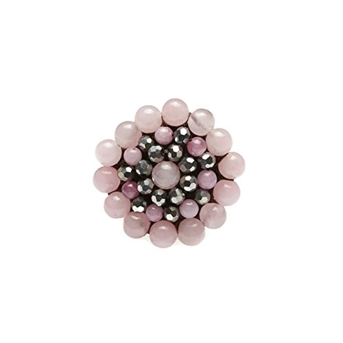 pink-round-stone-beads-ring-with-stone-bead-crystal-bead-wax-cotton-string-ring